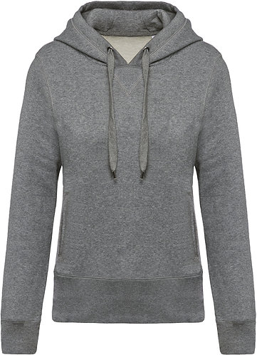 Women Organic Hooded Sweatshirt Heather Grey