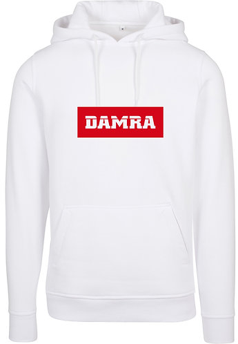 Men Hoody Background RED White