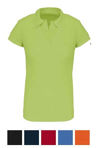 Women Short Sleeved Polo Shirt C