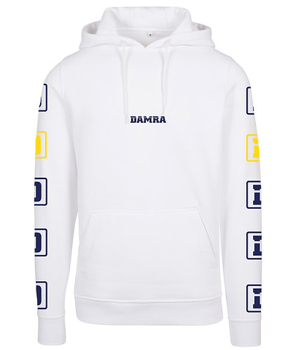 Men Hoody Damra D Arm White