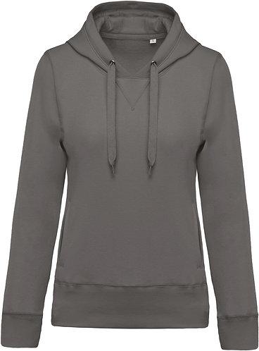 Women Organic Hooded Sweatshirt Storm Grey
