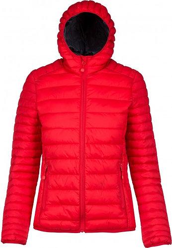 Women Lightweight Hooded Padded Jacket Red