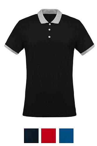 Men Two Tone Piqué Polo Shirt