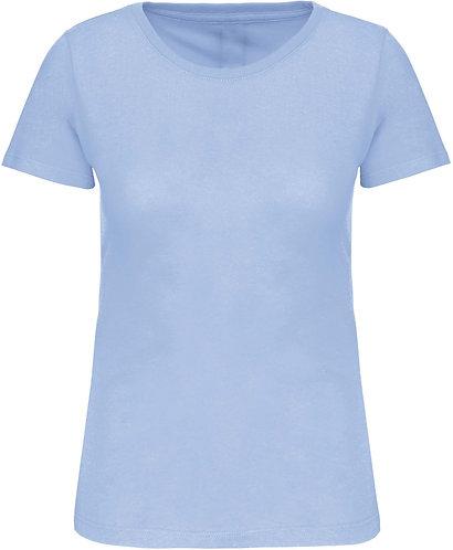 Women BIO Crew Neck T-Shirt Sky Blue