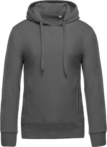 Men Organic Hooded Sweatshirt Storm Grey