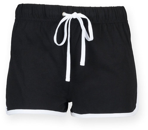 Kids Retro Short Black