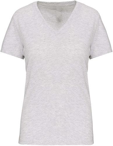 Women BIO V-Neck T-Shirt Ash Heather