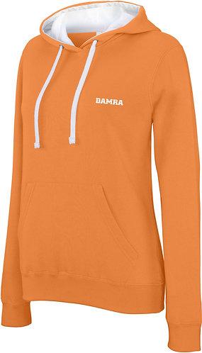 Women Contrast Sport Hoody Orange