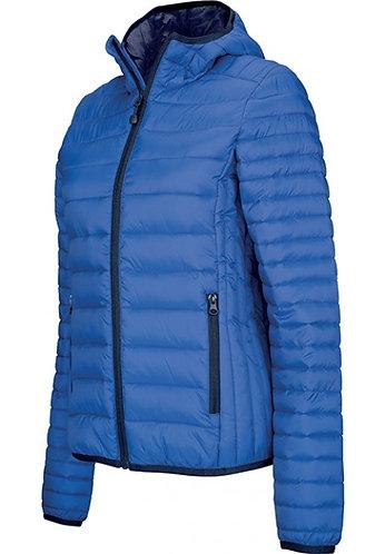 Women Lightweight Hooded Padded Jacket Royal Blue