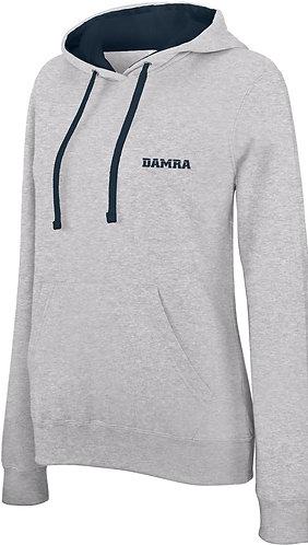 Women Contrast Sport Hoody Oxford Grey