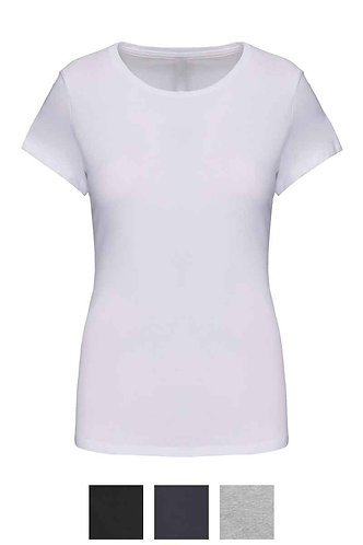 Women Short Sleeved Crew Neck T-Shirt