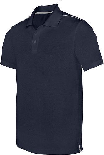 Men Short Sleeved Polo Shirt Navy