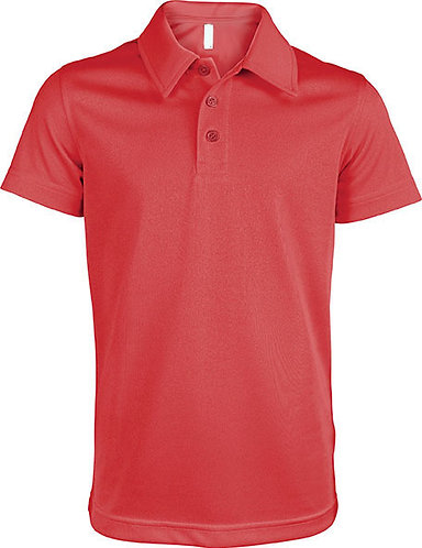 Kids Short-Sleeved Polo Shirt Red
