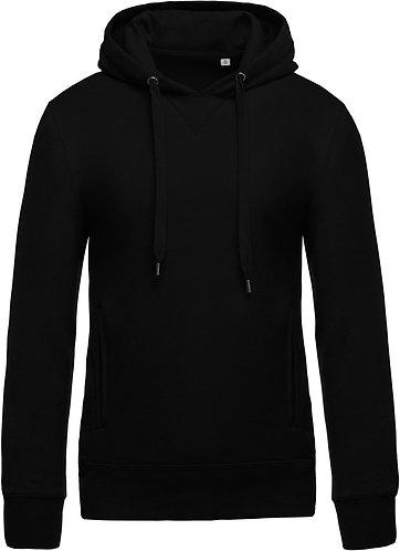 Men Organic Hooded Sweatshirt Black