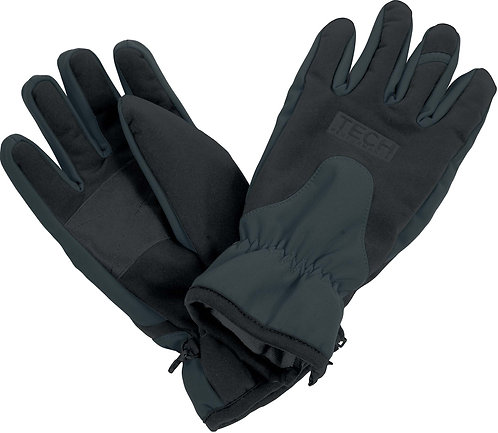 Tech Performance Sport Gloves Grey Black