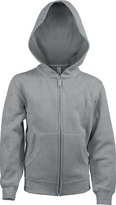 Kids Full Zip Hooded Sweatshirt B Oxford Grey