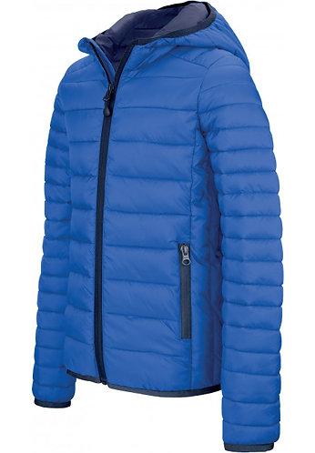 Men Lightweight Hooded Padded Jacket Royal Blue