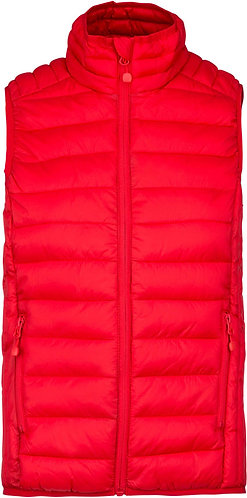 Kids Lightweight Sleeveless Padded Jacket Red