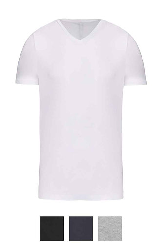 Men Short Sleeved V-neck T-Shirt