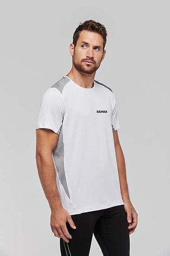 Men Sportshirt Bicolor White/Fine Grey