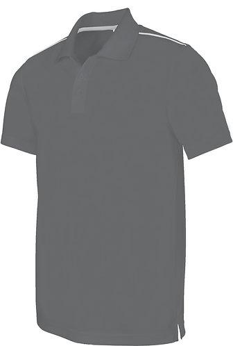 Men Short Sleeved Polo Shirt Grey