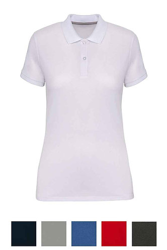 Women Short Sleeved Polo Shirt B