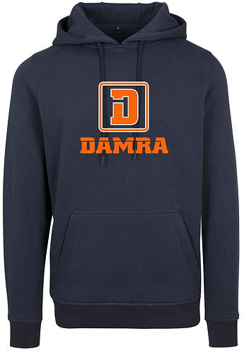 Men Hoody Logo D Damra Navy