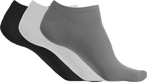 Microfibre Trainer Socks Black/White/Grey