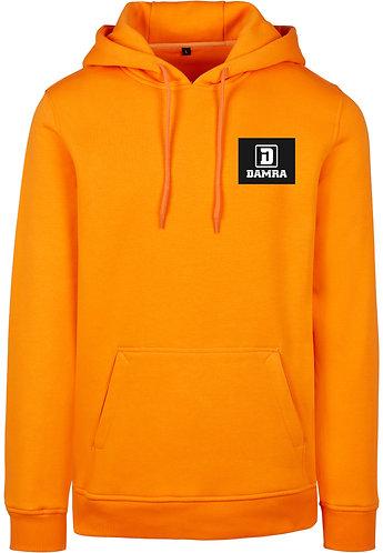 Men Hoody Background Square BLK Orange
