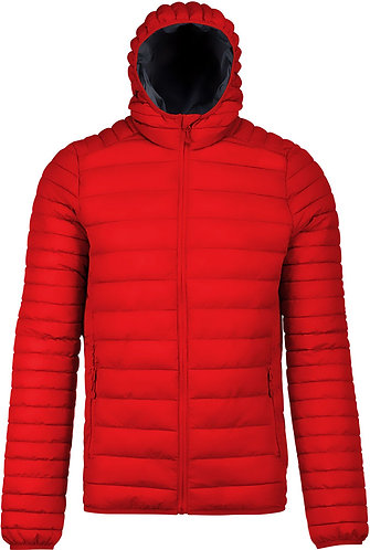 Kids Lightweight Hooded Padded Jacket Red