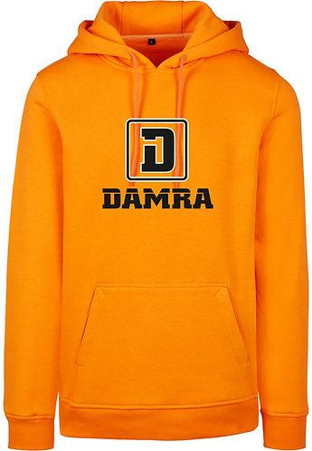 Men Hoody Logo D Damra Orange