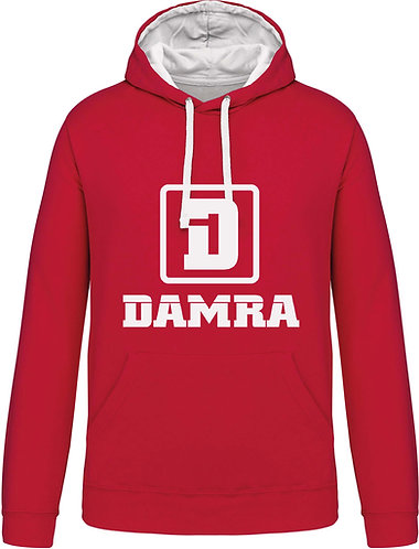 Men Contrast Hoody D Red