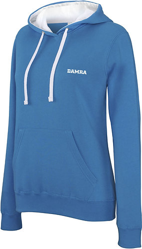 Women Contrast Sport Hoody Tropical blue