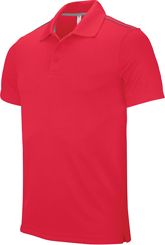 Men Short Sleeved Polo Shirt Red
