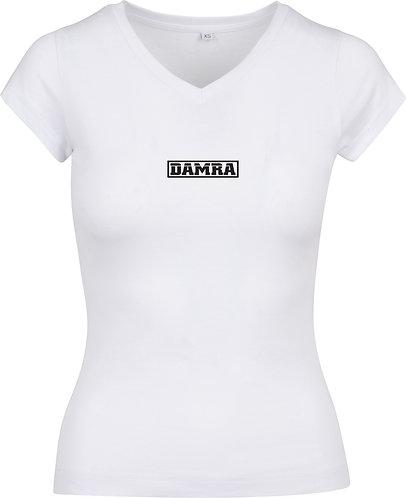 Women T-shirt Log Cader White