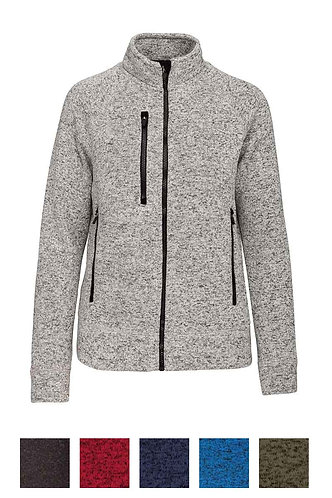 Women Full Zip heather Jacket
