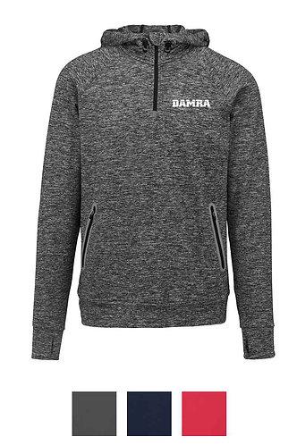 Men Zip Neck Hooded Sports Sweatshirt