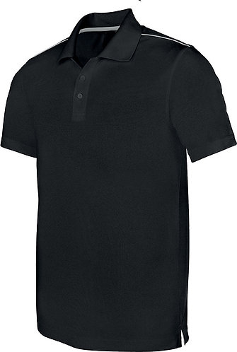 Men Short Sleeved Polo Shirt Black