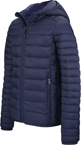 Kids Lightweight Hooded Padded Jacket Navy