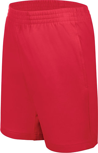 Kids Jersey Sports Shorts Red