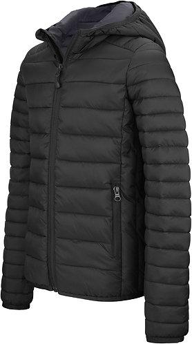 Kids Lightweight Hooded Padded Jacket Black