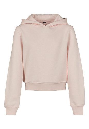 Girls Cropped Sweat Hoody Pink