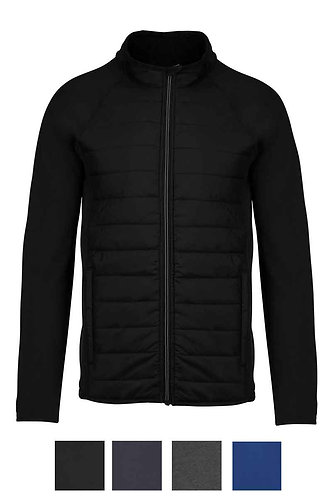 Men Dual-Fabric Sports Jacket