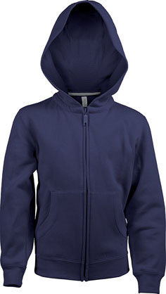 Kids Full Zip Hooded Sweatshirt B Navy