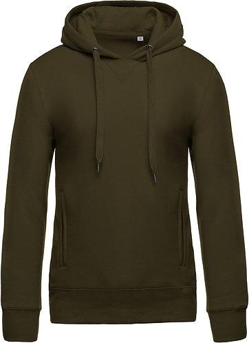 Men Organic Hooded Sweatshirt Mossy Green