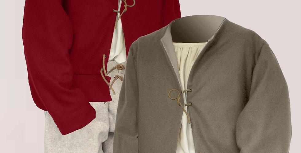 POURPOINT A BASQUES, choix de couleurs et de tissus, laine, lin, coton,ect