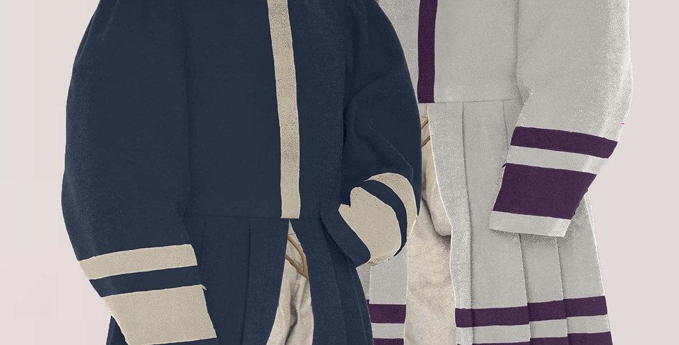 POURPOINT LONG ÉLÉMENT, bicolore, choix de tissus et de couleurs