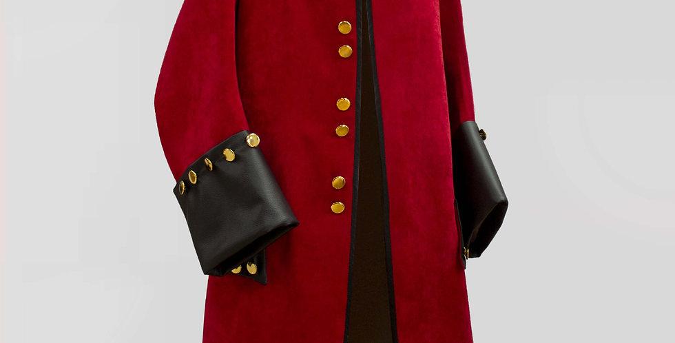CAPTAIN' COOK, Veste rabats de poches et parements de manches en cuir