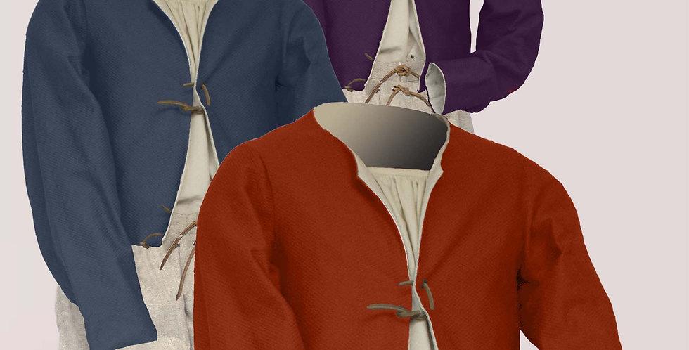 POURPOINT COURT, choix de 4 sélections de tissus dans une palette de 9 couleurs