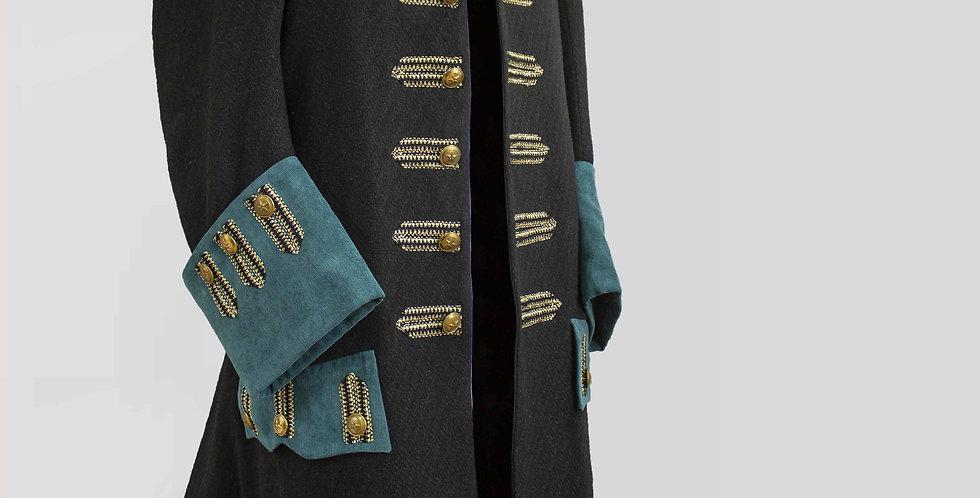 ARCHAMBEAU, veste avec boutonnières galonnées sur les devants et les manches